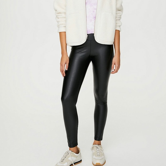 Wilfred Free Daria leather ankle legging - Sz S